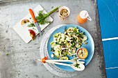 Courgette and apple salad (detox diet)