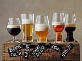 Various types of beer