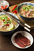 Vietnamese beef soup with anise and cinnamon