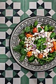 Couscous salad with feta cheese and citrus fruits (Morocco)