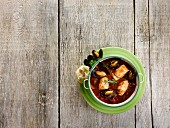 Spicy cod and mussel stew