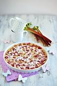 Gluten-free, vegan rhubarb cake