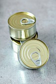 Three food tins