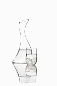A carafe and a glass by Georg Jensen