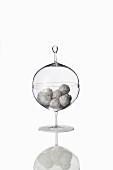 A round glass bonbon jar by Lobmeyr