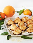 Coconut macaroons with orange flavouring