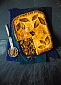 Beef pie with beer and parsnips