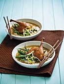Duck legs with rice and beans