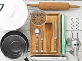 Kitchen utensils for making wraps
