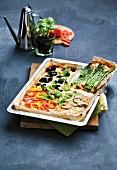 A four seasons pizza