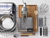 Kitchen utensils for making yeast dough muffins