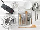 Kitchen utensils for making waffles