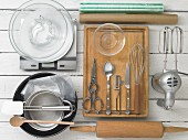 Kitchen utensils for making Easter cakes