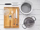 Kitchen utensils for making vegetable ragout