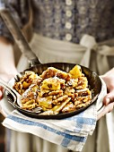 Bavarian Kaiserschmarrn (shredded sugared pancake)