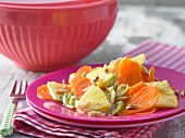Carrot & pineapple salad with spring onions