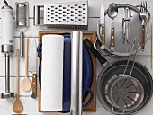Kitchen utensils for preparing stuff breast of veal
