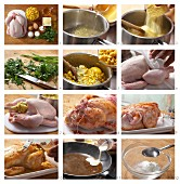 How to prepare roast chicken with polenta stuffing
