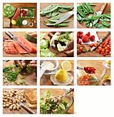 How to prepare melon & mozzarella salad with croutons