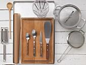 Kitchen utensils for making pizza