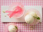 Elderflower & yoghurt ice cream
