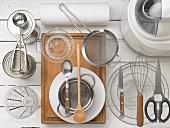 Kitchen utensils for making ice cream