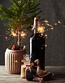 Aromatic mulled wine for Christmas