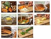 How to prepare potato salad with sausage
