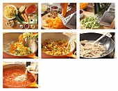 How to prepare fusilli with tomato sauce
