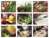 How to prepare spinach and mango