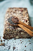Bread with chia seeds, linseeds and nuts
