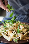 Tofu with sprouts, peanuts and Thai basil (Superfood)