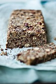 Chia seed bread with poppy seeds, oatmeal, hazelnuts, and linseed