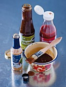 Ingredients for a barbecue marinade