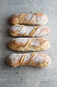 Four tortillon (long, spiral-shaped loaves of bread, France)