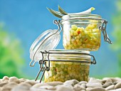 Pineapple & cucumber salsa with spring onions