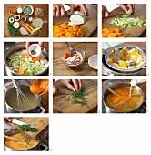 How to prepare shrimp soup with peas