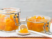 Sweet and sour pumpkin compote with ginger