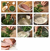 How to prepare beans cooked in a white sauce with gammon