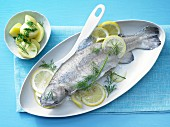 Trout with herb potatoes