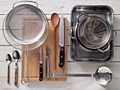 Kitchen utensils for preparing trout