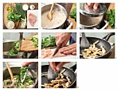 How to prepare buckwheat & herb porridge with turkey strips and yoghurt
