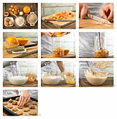 How to prepare exotic fruit biscuits with almonds