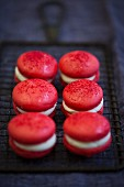 Red macarons for Valentine's Day