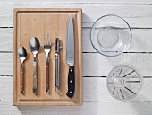 Kitchen utensils for preparing fruit quark