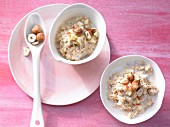Bircher muesli with hazelnuts