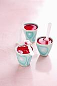 Berry yoghurt with raspberry jelly