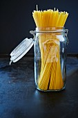 Spaghetti in a preserving jar