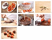 How to prepare chocolate-coated strawberries