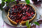 An autumnal plum tart
